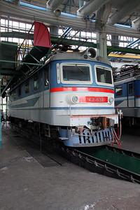 ChS2 632 at Kharkov October Depot on 2nd May 2010 (2)