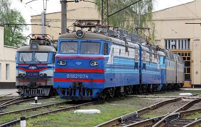 VL82 074 at Kharkov October Depot on 2nd May 2010 (2)