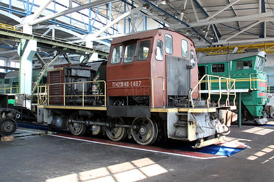 TGM23V 1487 at Kharkov Osnova Depot on 2nd May 2010 (2)