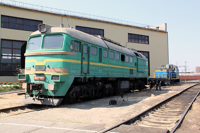 2M62 1064 unknown at Kharkov Osnova Depot on 2nd May 2010
