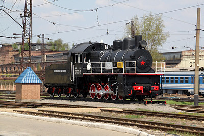 steam, Eu677 49 at Kharkov October Depot on 2nd May 2010 (2)