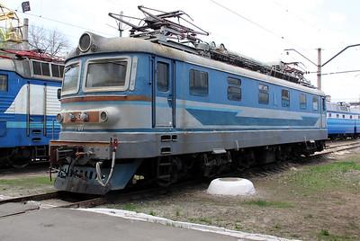 ChS2 707 at Kharkov October Depot on 2nd May 2010