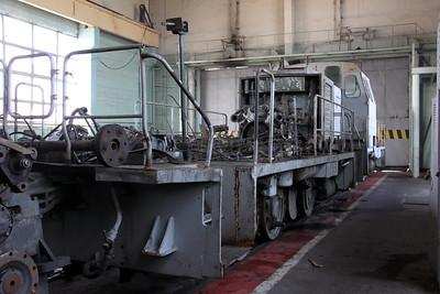 TGM23V 734 at Kharkov Osnova Depot on 2nd May 2010 (2)