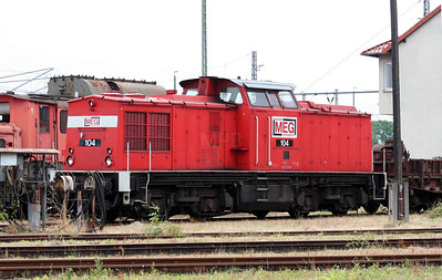 MEG, 104 at Nordhausen Depot 10th July 2008