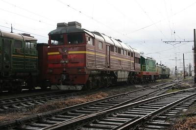 2TE116 0602B at Dzhankoy Depot on 10th May 2008