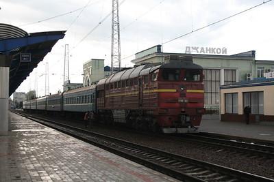 2TE116 1602B at Dzhankoy on 10th May 2008