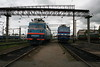 VL60 1524 & VL40 1395 at Zhmerinka Depot on 8th May 2008