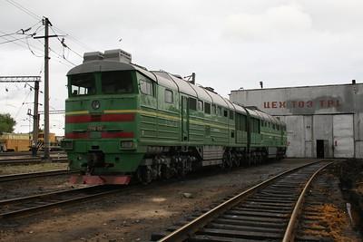 2TE116 1283 at Zhmerinka Depot on 8th May 2008 (2)