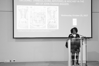DECODING Symbols, Icons, Mysteries, & Mischief in the Art of John Thomas Biggers @ Mint Museum Uptown 10-25-17 by Jon Strayhorn