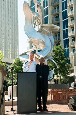 The Public Art Dedication of Sculpture Spiral Odyssey by Richard Hunt @ Romare Bearden Park 9-23-17 by Jon Strayhorn