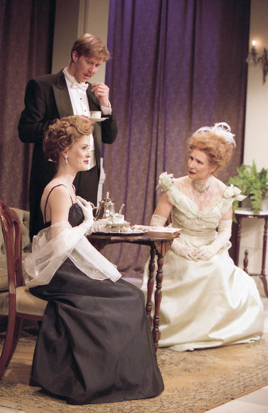 Rachel Sledd, Karl Klenzer and Glynis Bell in DIANA OF DOBSON'S by Cecily Hamilton <br /> Photo: Richard Termine