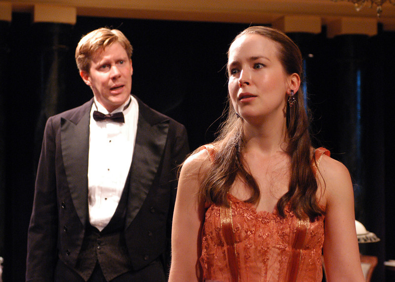 Karl Kenzler and Harmony Schuttler in THE CHARITY THAT BEGAN AT HOME by St. John Hankin <br /> Photo: Richard Termine