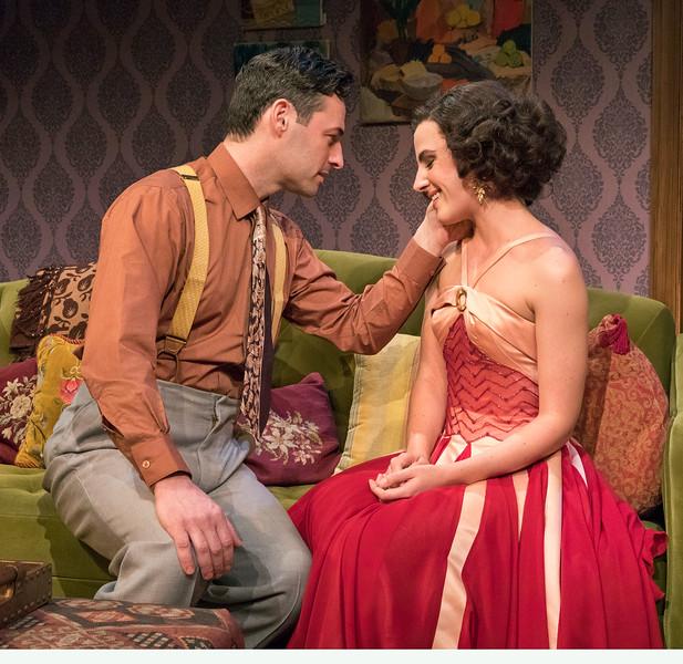 Max von Essen and Mikaela Izquierdo in YOURS UNFAITHFULLY by Miles Malleson.<br /> Photo: Richard Termine.