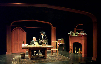 George Morfogen and Sally Kemp in A FAREWELL TO THE THEATER by Harley Granville-Barker  Photo: Sarah Lambert