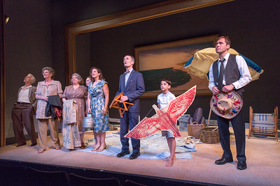 Philip Goodwin, Jill Tanner, Polly McKie, Kylie McVey, Katie Firth, Curzon Dobell, Athan Sporek, and Julian Elfer in A DAY BY THE SEA by N.C. Hunter. Photo: Richard Termine.