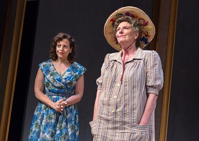 Katie Firth and Jill Tanner in A DAY BY THE SEA by N.C. Hunter. Photo: Richard Termine.