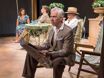Katie Firth, Jill Tanner, Philip Goodwin, and George Morfogen in A DAY BY THE SEA by N.C. Hunter. Photo: Richard Termine.