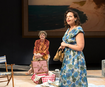 Jill Tanner and Katie Firth in A DAY BY THE SEA by N.C. Hunter. Photo: Richard Termine.
