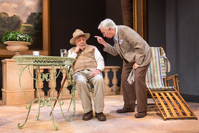 George Morfogen and Philip Goodwin in A DAY BY THE SEA by N.C. Hunter. Photo: Richard Termine.