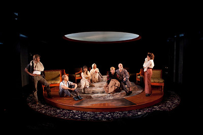 McCaleb Burnett, Craig Wroe, Chet Siegel, Rosemary Prinz, Laurie Birmingham, Douglas Rees and Samantha Soule in A LITTLE JOURNEY by Rachel Crothers Photo: Richard Termine