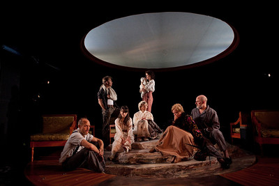 Craig Wroe, McCaleb Burnett, Chet Siegel, Rosemary Prinz, Samantha Soule, Laurie Birmingham and Douglas Rees in A LITTLE JOURNEY by Rachel Crothers Photo: Richard Termine