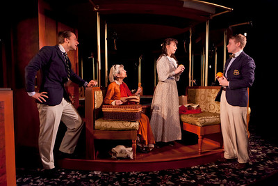 Ben Roberts, Rosemary Prinz, Chet Siegel and Ben Hollandsworth in A LITTLE JOURNEY by Rachel Crothers Photo: Richard Termine