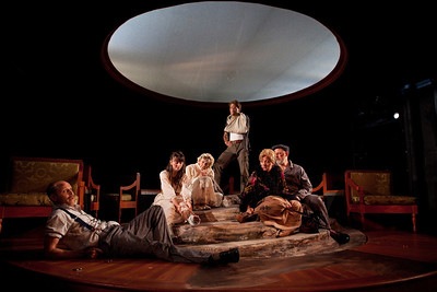 Craig Wroe, Chet Siegel, Rosemary Prinz, McCaleb Burnett, Laurie Birmingham and Douglas Rees in A LITTLE JOURNEY by Rachel Crothers Photo: Richard Termine