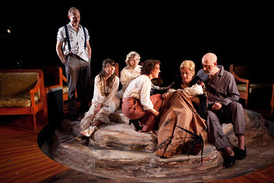 Craig Wroe, Chet Siegel, Rosemary Prinz, Samantha Soule, Laurie Birmingham and Douglas Rees in A LITTLE JOURNEY by Rachel Crothers Photo: Richard Termine