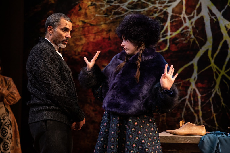 CHEKHOV/TOLSTOY: LOVE STORIES Adapted for the stage by Miles Malleson<br /> MICHAEL Directed by Jane Shaw<br /> Anna Lentz and J. Paul Nicholas<br /> Photo by Maria Baranova