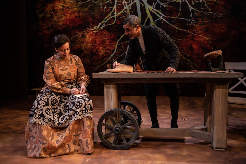 CHEKHOV/TOLSTOY: LOVE STORIES Adapted for the stage by Miles Malleson<br /> MICHAEL Directed by Jane Shaw<br /> Katie Firth and J. Paul Nicholas<br /> Photo by Maria Baranova