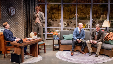 DAYS TO COME BY LILLIAN HELLMAN Ted Deasy, Roderick Hill, Larry Bull, and Chris Henry Coffey Photo by Todd Cerveris