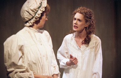 Caren Browning and Rachel Sledd in DIANA OF DOBSON'S by Cecily Hamilton  Photo: Richard Termine