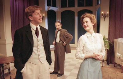 Karl Kenzler, John Plumpis and Rachel Sledd in DIANA OF DOBSON'S by Cecily Hamilton  Photo: Richard Termine