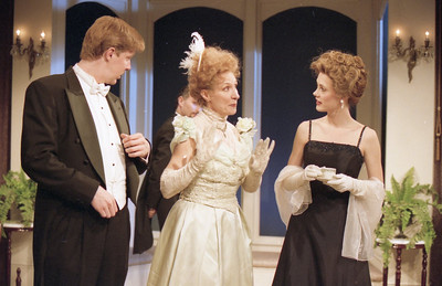 Karl Kenzler, John Plumpis, Glynis Bell and Rachel Sledd in DIANA OF DOBSON'S by Cecily Hamilton  Photo: Richard Termine