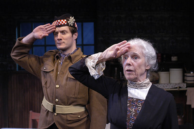 Gareth Saxe and Frances Sternhagen in ECHOES OF THE WAR: TWO SHORT PLAYS by J.M. Barrie  Photo: Richard Termine