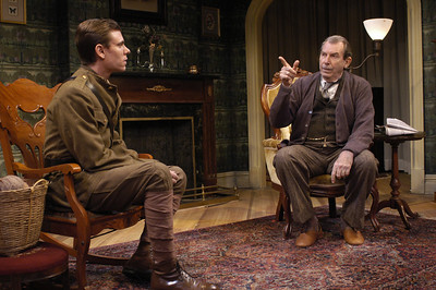 Aaron Krohn and Richard Easton in ECHOES OF THE WAR: TWO SHORT PLAYS by J.M. Barrie  Photo: Richard Termine