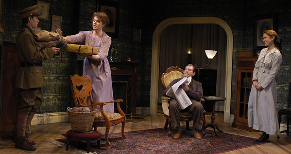 Aaron Krohn, Anne-Marie Cusson, Richard Easton and Jenny Strassburg in ECHOES OF THE WAR: TWO SHORT PLAYS by J.M. Barrie  Photo: Richard Termine