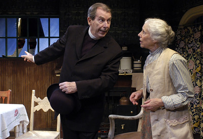 Richard Easton and Frances Sternhagen in ECHOES OF THE WAR: TWO SHORT PLAYS by J.M. Barrie  Photo: Richard Termine