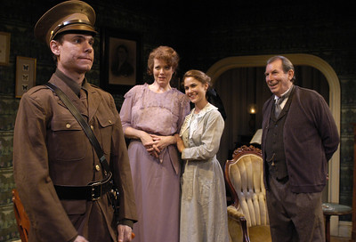 Aaron Krohn, Anne-Marie Cusson, Jenny Strassburg and Richard Easton in ECHOES OF THE WAR: TWO SHORT PLAYS by J.M. Barrie  Photo: Richard Termine