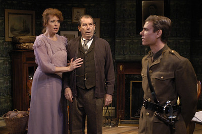 Anne-Marie Cusson, Richard Easton and Aaron Krohn in ECHOES OF THE WAR: TWO SHORT PLAYS by J.M. Barrie  Photo: Richard Termine