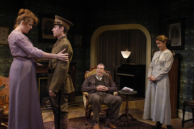 Anne-Marie Cusson, Aaron Krohn, Richard Easton and Jenny Strassburg in ECHOES OF THE WAR: TWO SHORT PLAYS by J.M. Barrie  Photo: Richard Termine