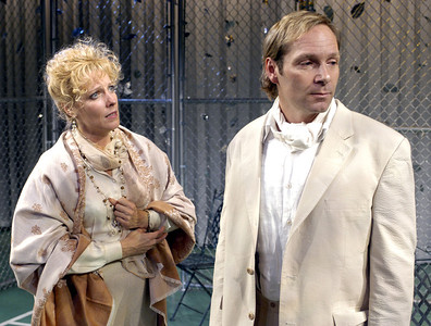 Lisa Bostnar and Hans Tester in FAR AND WIDE by Arthur Schnitzler  Photo: Richard Termine