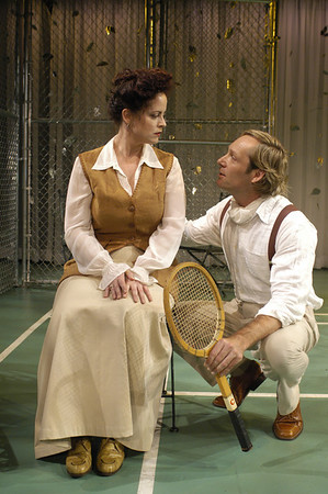 Pilar Witherspoon and Hans Tester in FAR AND WIDE by Arthur Schnitzler  Photo: Richard Termine