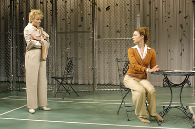Lisa Bostnar and Kate Arrington in FAR AND WIDE by Arthur Schnitzler  Photo: Richard Termine
