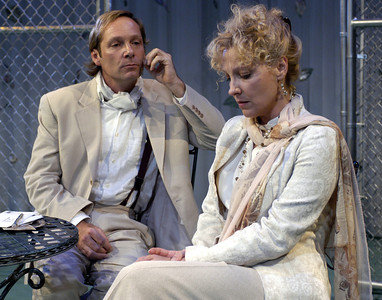 Hans Tester and Lisa Bostnar in FAR AND WIDE by Arthur Schnitzler  Photo: Richard Termine
