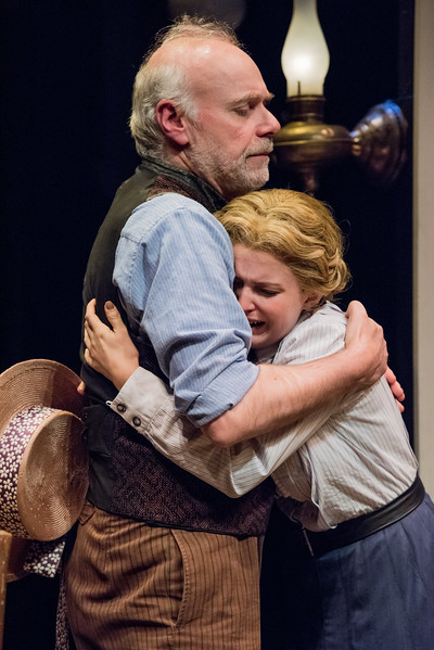 Ken Marks and Rebecca Noelle Brinkley in HINDLE WAKES by Stanley Houghton, directed by Gus Kaikkonen. Photo by Todd Cerveris.