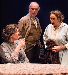 Jill Tanner, Ken Marks and Sandra Shipley in HINDLE WAKES by Stanley Houghton, Directed by Gus Kaikkonen. Photo by Todd Cerveris.