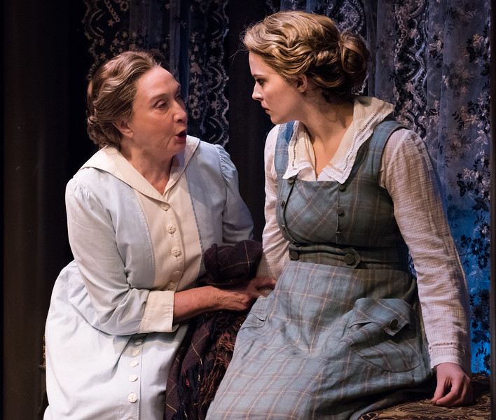 Sandra Shipley and Rebecca Noelle Brinkley in HINDLE WAKES by Stanley Houghton, Directed by Gus Kaikkonen. Photo by Todd Cerveris.