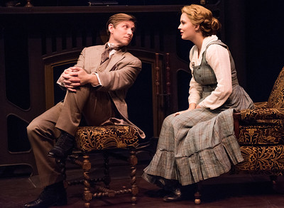 Jeremy Beck and Rebecca Noelle Brinkley in HINDLE WAKES by Stanley Houghton, Directed by Gus Kaikkonen. Photo by Todd Cerveris.