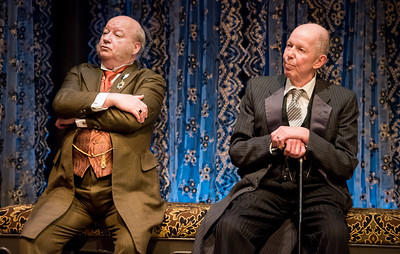 Brian Reddy and Jonathan Hogan  in HINDLE WAKES by Stanley Houghton, directed by Gus Kaikkonen. Photo by Todd Cerveris.